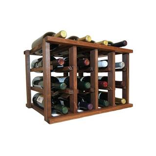 Wine Cellar Innovations Dark Walnut Stain Mini-stack Series Stackable 12-bottle Rack