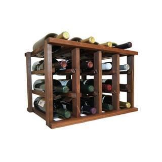 Wine Cellar Innovations Dark Walnut Stain Mini-stack Series Stackable 12-bottle Rack
