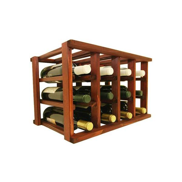 Wine Cellar Innovations Mini-Stack Series Classic Mahogany Stain Stackable 12-bottle Wine Rack  sc 1 st  Overstock.com & Shop Wine Cellar Innovations Mini-Stack Series Classic Mahogany ...
