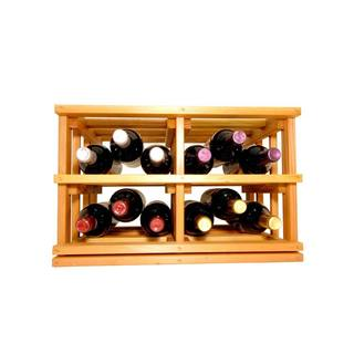 Wine Cellar Innovations Mini-stack Series Light Stain Stackable Bottle Bin