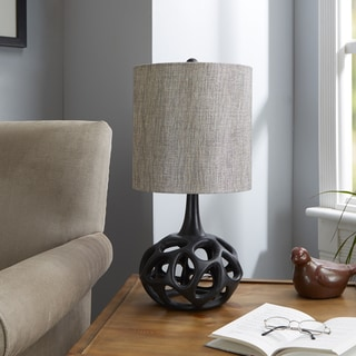 Black Resin Clove Table Lamp