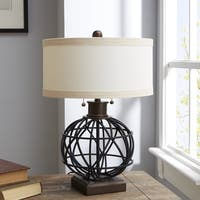 Carbon Loft Bushnell Two-pull Table Lamp with Shade