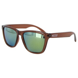 Nectar Mens Breck Polarized Rectangular Sunglasses - Brown/Gold
