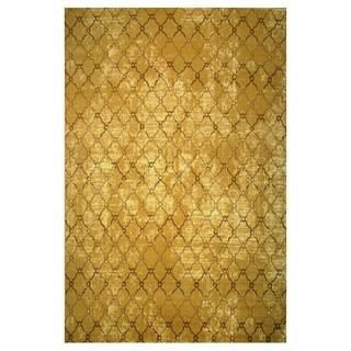 Leonardo Collection Gold Trellis Rug, 2 ft. x 8 ft