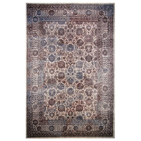 Hermes Collection Burgundy Oriental Rug,