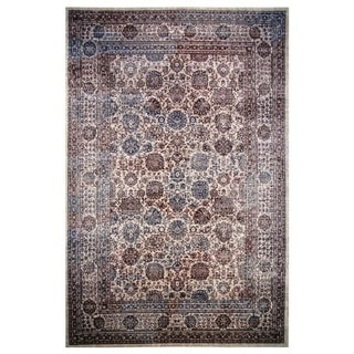 Hermes Collection Burgundy Oriental Rug, 2 ft. x 8 ft.
