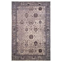 Hermes Collection Gray and Cream Oriental Rug,
