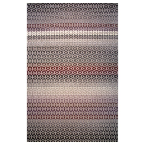Hermes Collection Geometric Striped Rug,