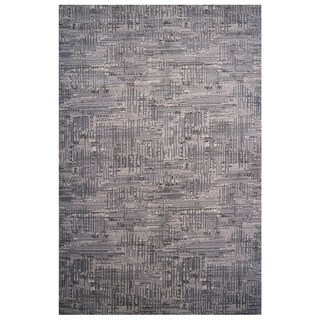 Aquarelle Collection Black and Grey Area Rug (2' x 8')