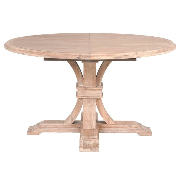 Shop Darby Stone Wash Round Extension Dining Table On
