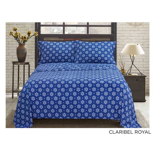 71c08a3509 Shop Asher Home Super Soft HeavyWeight Fleece Sheet Set - Free ...