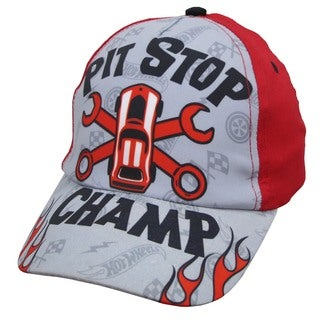 Mattel Boys' Hot Wheels Pit Stop Toddler Red Baseball Cap