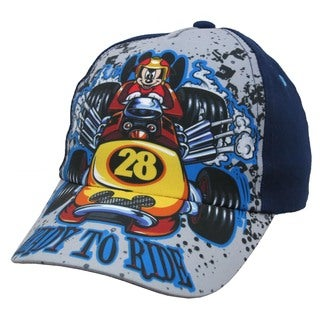 Disney Boys Mickey Mouse 28 Navy-blue Cotton Baseball Cap