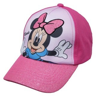 Disney Minnie Mouse Pink Cotton Baseball Cap