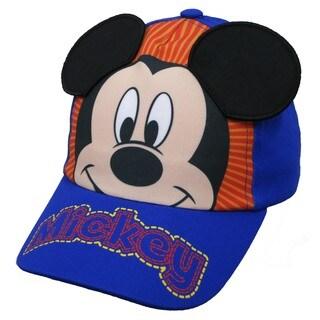 Disney Toddler Boys' Mickey Mouse Blue Cotton Baseball Cap
