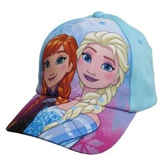 Disney Girls' Frozen Anna Elsa Blue Cotton Baseball Cap