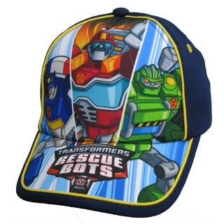 Transformers Boys' Navy Blue Toddler Size Rescue Bots Baseball Cap