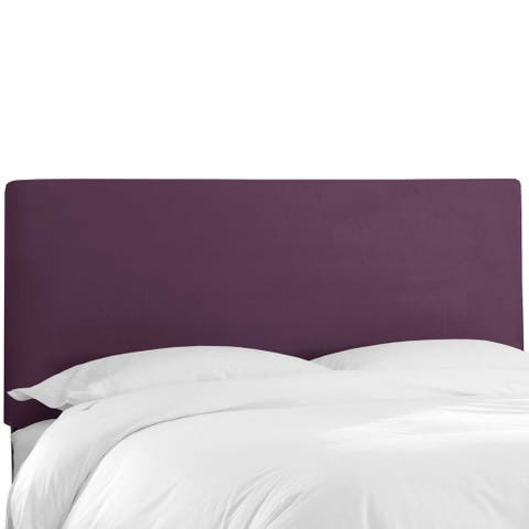 Skyline Furniture Custom Velvet Upholstered Headboard
