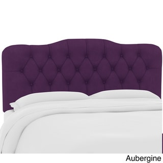 Skyline Furniture Custom Tufted Headboard in Velvet