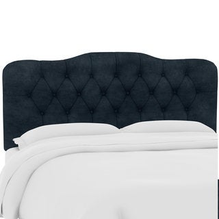 Custom Microsuede Button Tufted Headboard- Skyline Furniture