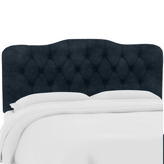 Custom Microsuede Button Tufted Headboard- Skyline Furniture