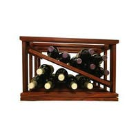 Mini-Stack Series Classic Mahogany Stain Stackable Open Diamond Wine Rack