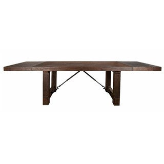 Cedric Rustic Java Acacia Extension Dining Table - Brown