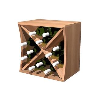 Concave Redwood Curvy Wine Cube with Diamond Insert