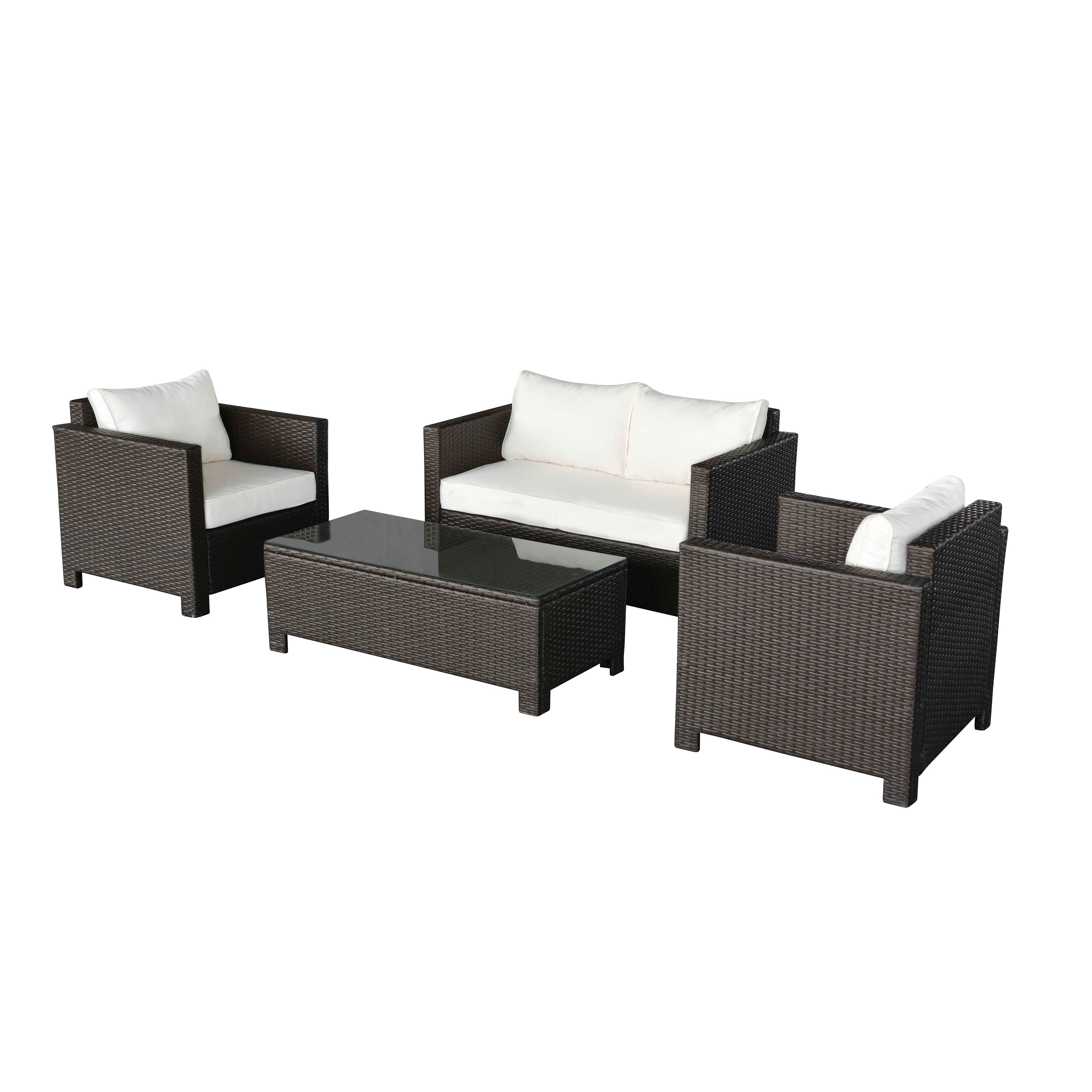 Havenside Home Caladesi Dark Brown Wicker Outdoor Couch And Chair Set