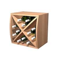 Wine Cellar Innovations Brown Wood Convex Curvy Wine Cube