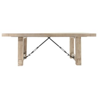 Cedric 84.5-inch Stone Wash Acacia Extension Dining Table