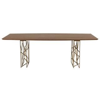 Cipriano Dark Walnut Boat-shaped Dining Table