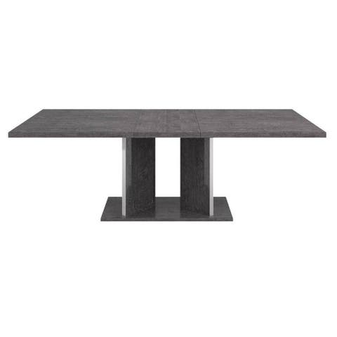 Mila Rectangular Grey Birch Extension Dining Table
