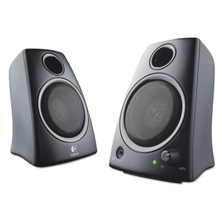 Logitech Z130 Compact 2.0 Stereo Speakers 3.5mm Jack Black