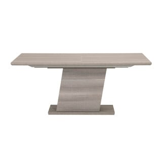 Stella Matte Grey Oak Slanted Extension Dining Table