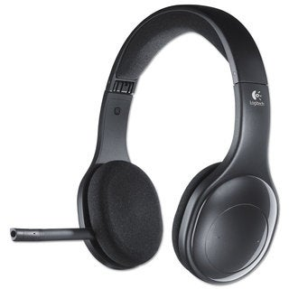 Logitech H800 Binaural Over-the-Head Wireless Bluetooth Headset 4 ft Range Black