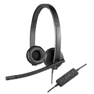 Logitech USB H570e Over-the-Head Wired Headset Binaural Black