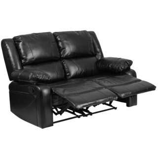 Serenity Classic Black Leather Loveseat