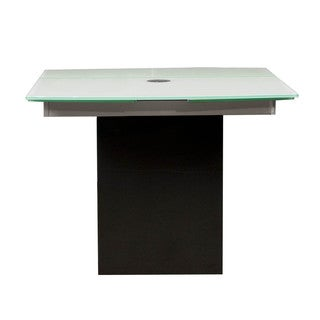 Lazzero Black Granite Glass Extension Dining Table
