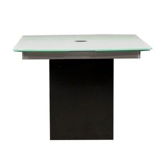 Lazzero Black Granite Glass Extension Dining Table