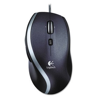 Logitech M500 Corded Mouse Three-Button/Scroll Black/Silver