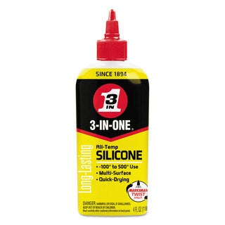 WD-40 3-IN-ONE Professional Silicone Lubricant 4-ounce Bottle 12/Carton