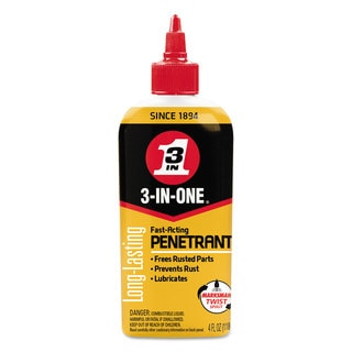 WD-40 3-IN-ONE Professional High-Performance Penetrant 4-ounce Bottle 12/Carton