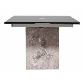 Roberto Grey Marble Square Extension Dining Table