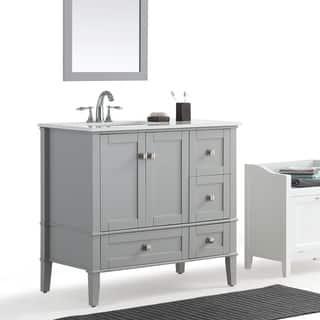 wyndenhall windham grey 36 inch offset bath vanity with white quartz marble tophttps