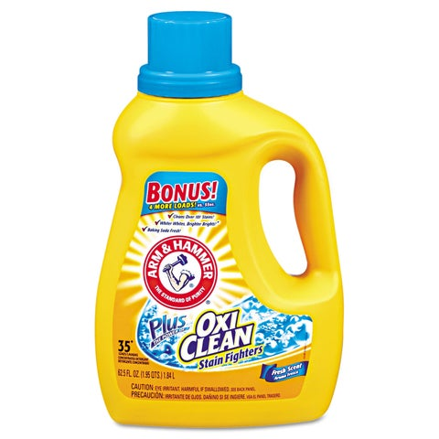 Arm & Hammer OxiClean Concentrated Liquid Laundry Detergent Fresh 61.25-ounce Bottle 6/Carton