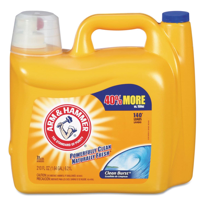 Arm & Hammer Dual HE Clean-Burst Liquid Laundry Detergent...