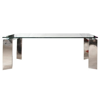 Goro Fixed Dining Table, Stainless Steel