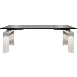 Link to Goro 78.75-inch Stainless Steel Extension Dining Table - Silver Similar Items in Dining Room & Bar Furniture