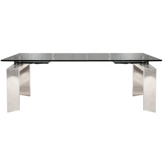 Goro 78.75-inch Stainless Steel Extension Dining Table - Silver